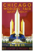 Vintage Travel Poster Chicago World Fair